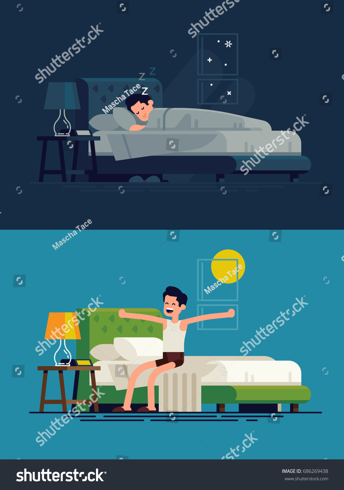 Resting man icon