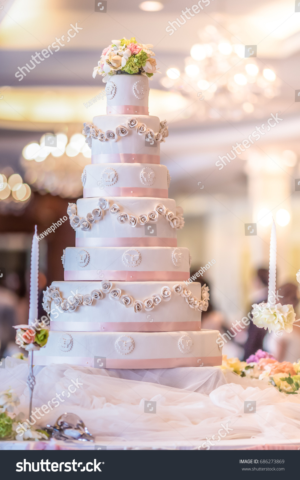 Wedding cake symbol happiness bride stock photo 686273869 shutterstock wedding cake symbol of the happiness of the bride biocorpaavc Image collections