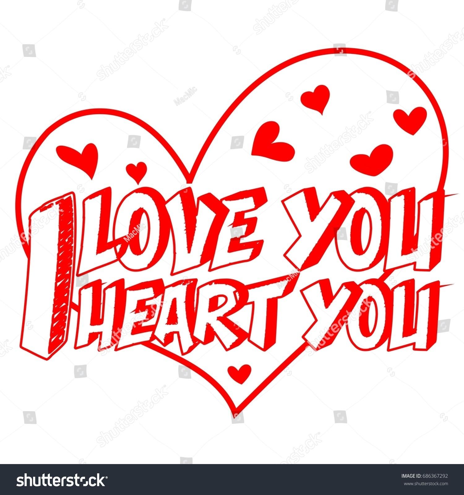 Romance Book Cover Vector : Decorative love you heart script stock vector