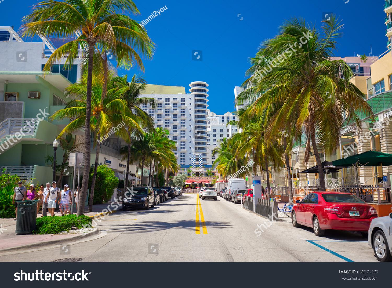 USA FLORIDA MIAMI BEACH JULY 2017 Stockfoto (Lizenzfrei) 686371507 ...