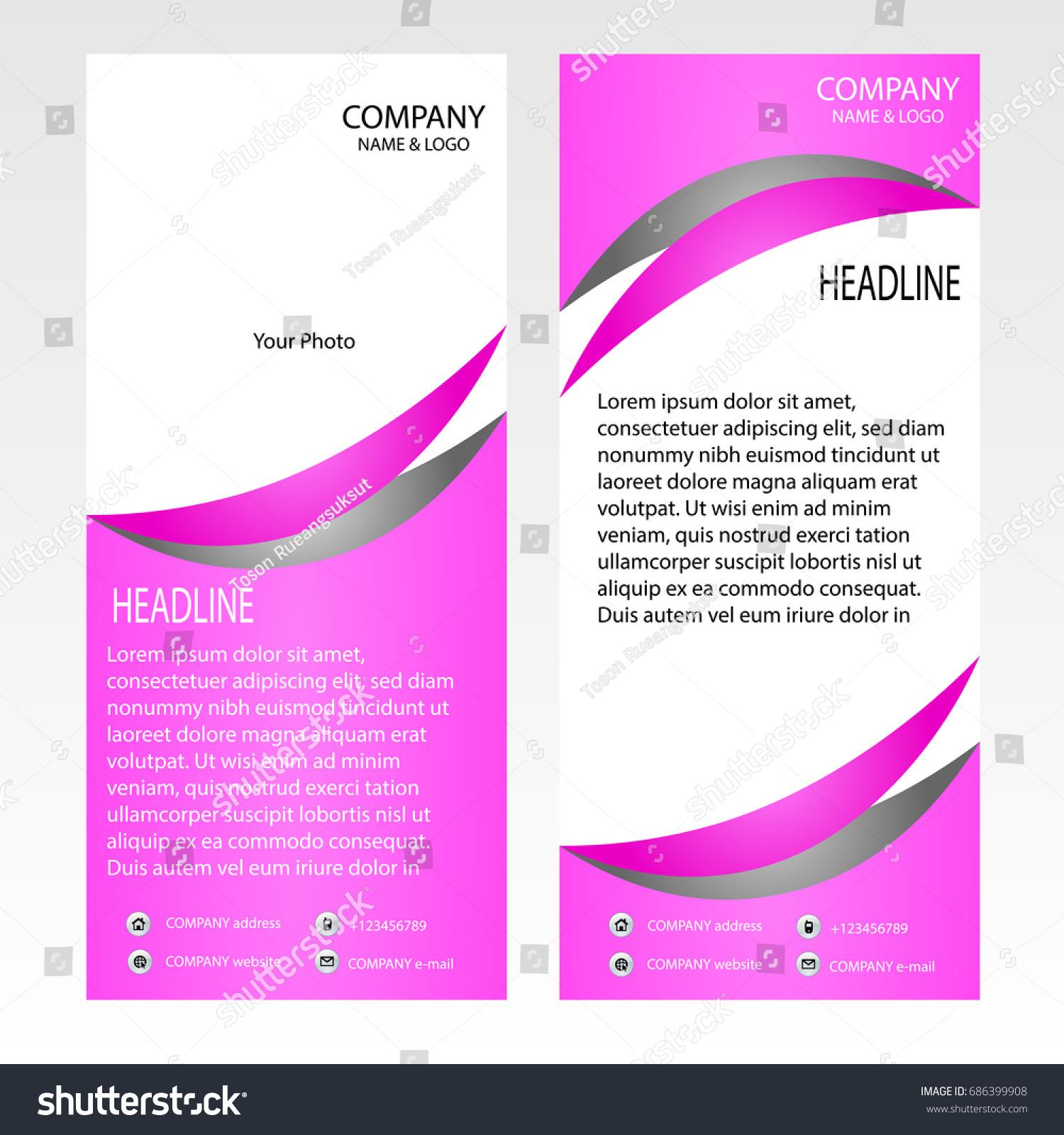 Rollup Banner Template Vector Illustrator Roll Stock Vector (2018 ...