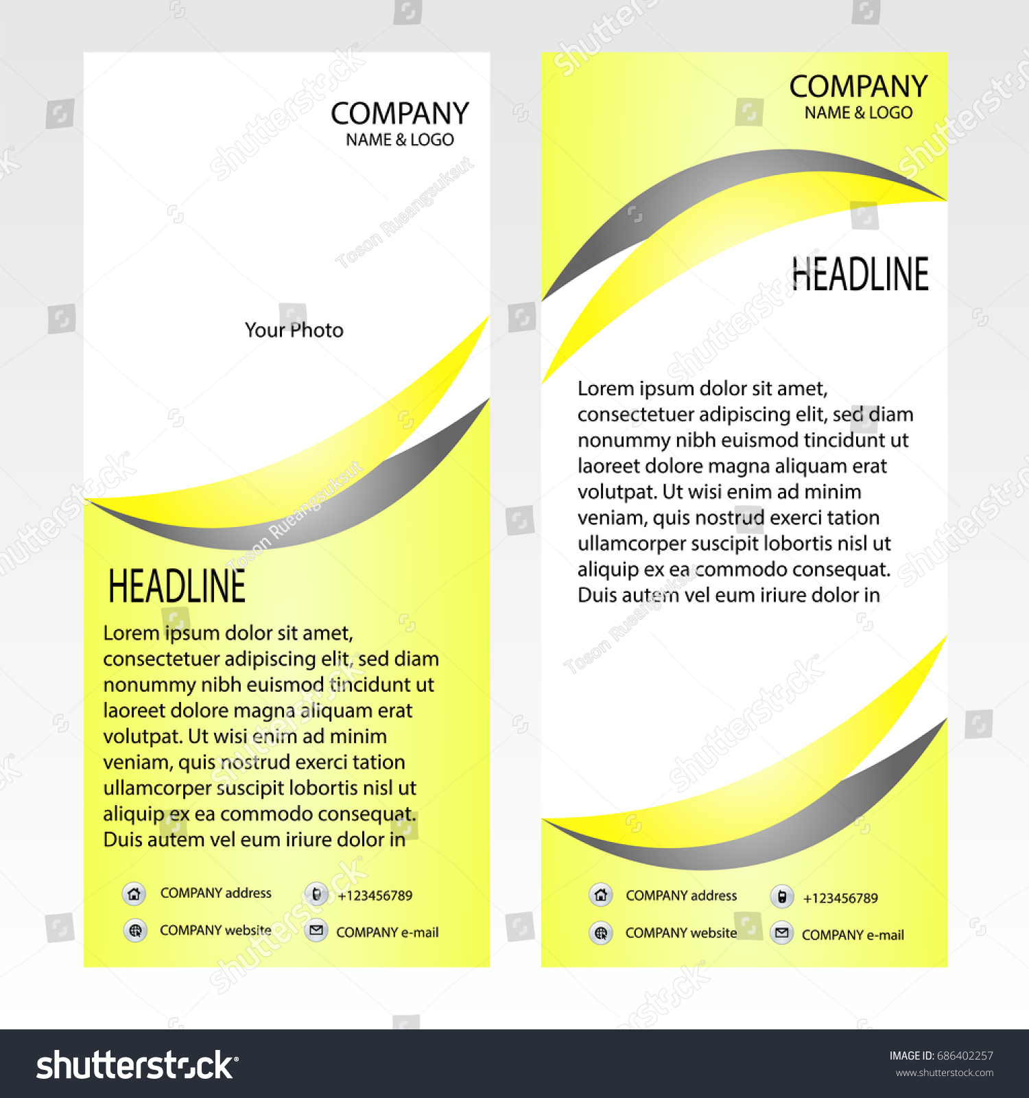 Rollup Banner Template Vector Illustrator Roll Stock Vector ...