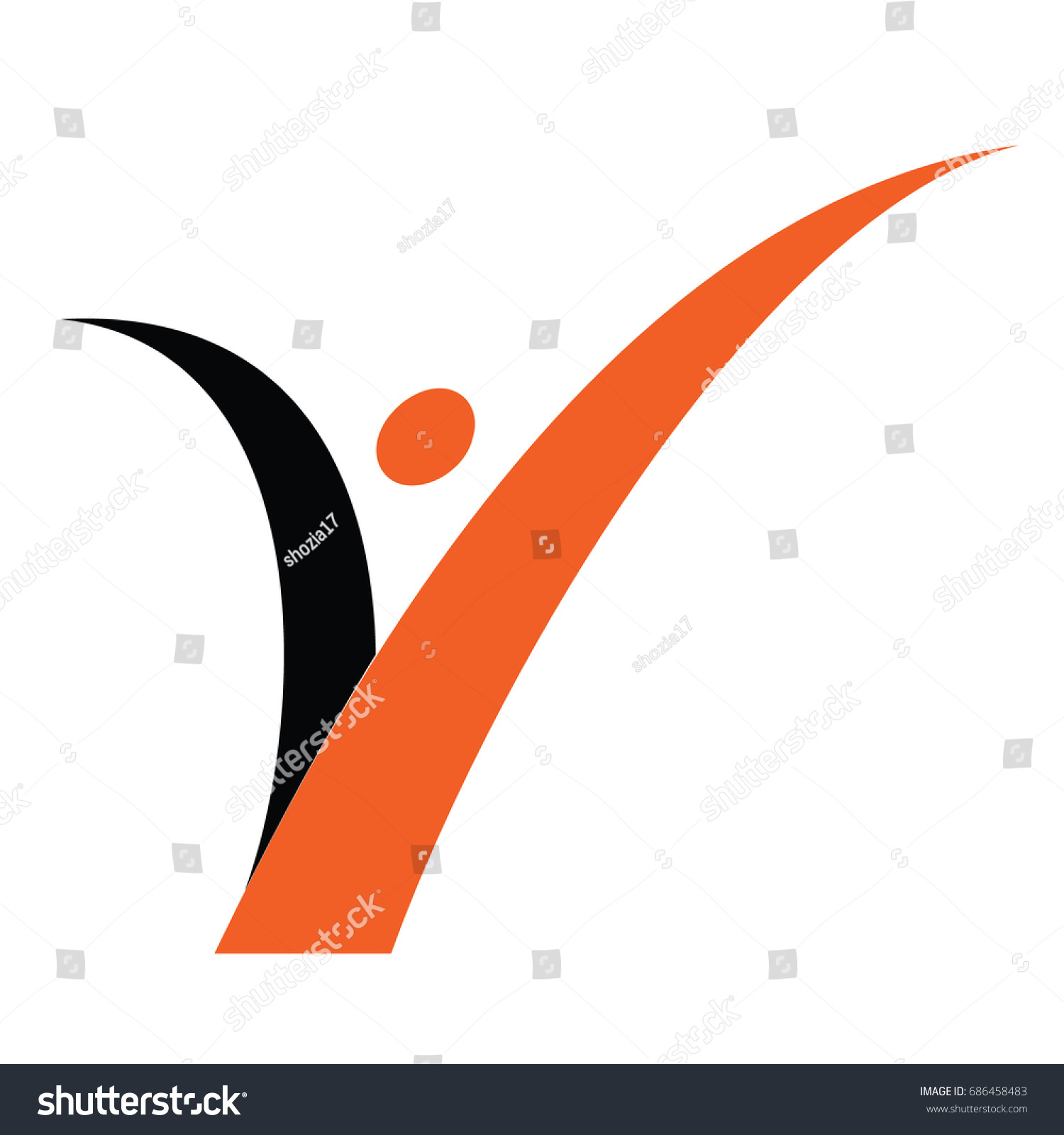 Simple modern initial letter logo v stock vector 686458483 simple modern initial letter logo v and dot energy buycottarizona Image collections