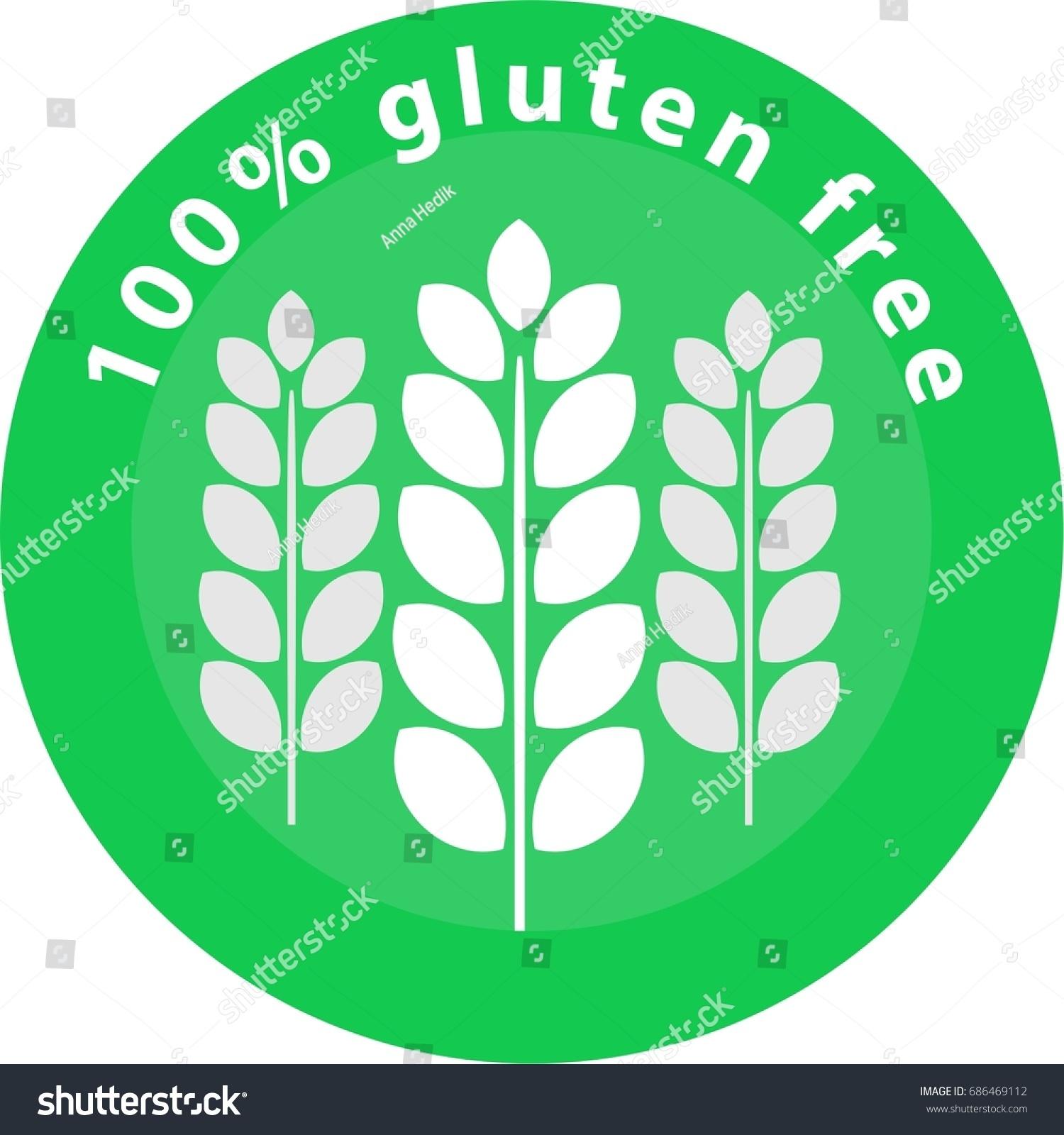 Gluten Free Icon Logo Sign Green Stock Vector (Royalty Free