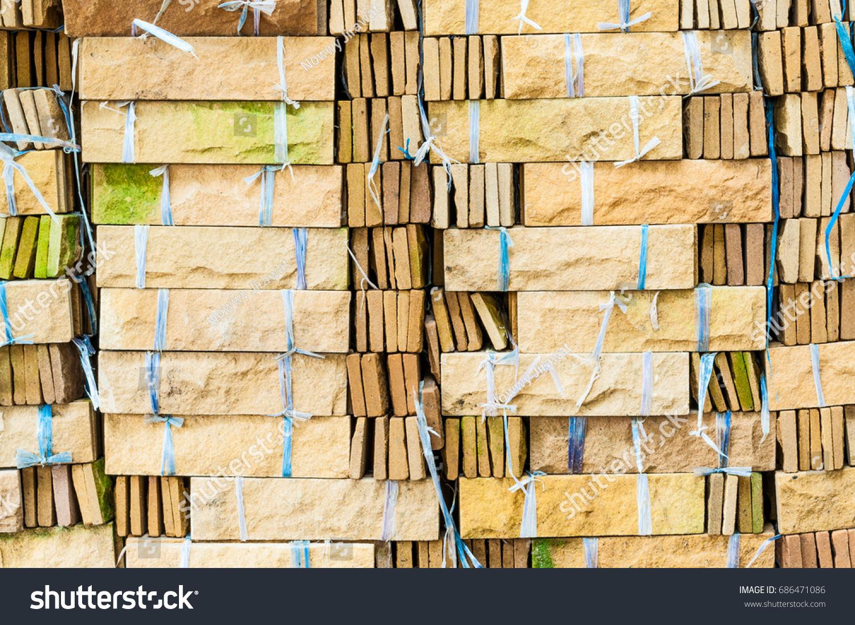 Pile Decoration Concrete Brick Stone Texture Stock Photo (Edit Now ...