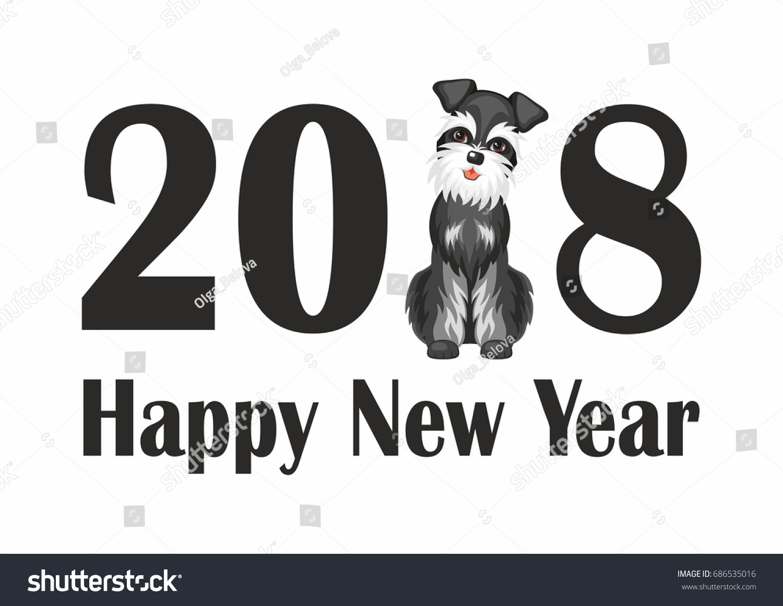Dog Symbol New 2018 Chinese Calendar Stock Photo Photo Vector