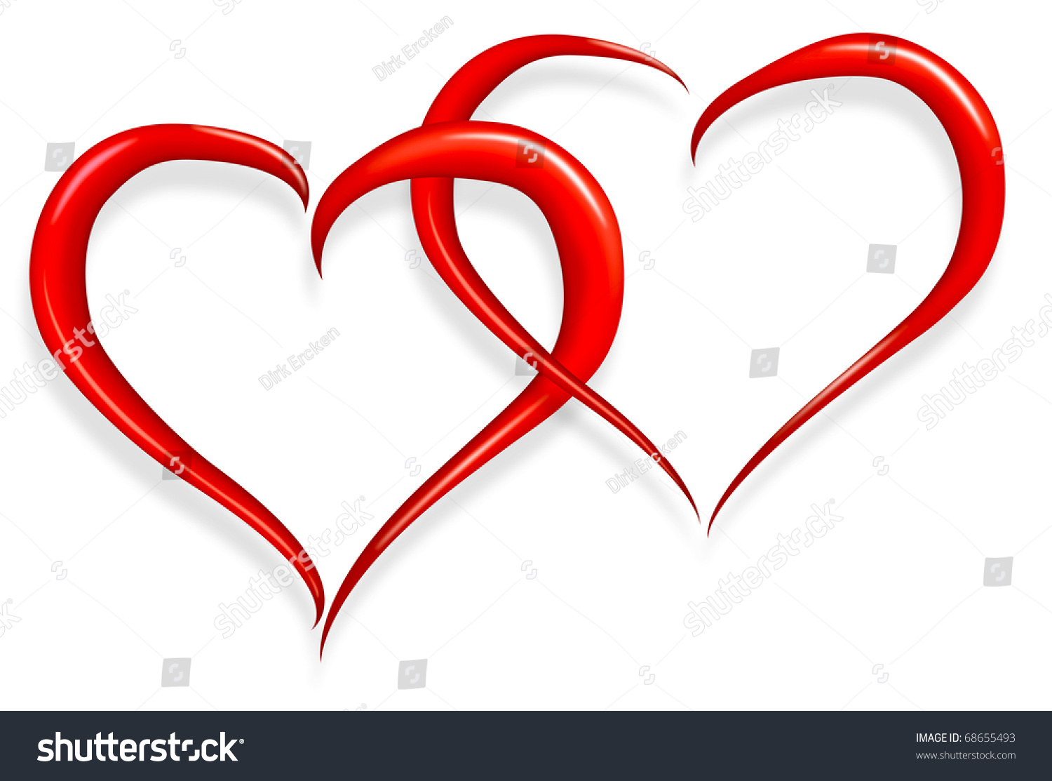 red love heart happy valentines day stock illustration - royalty