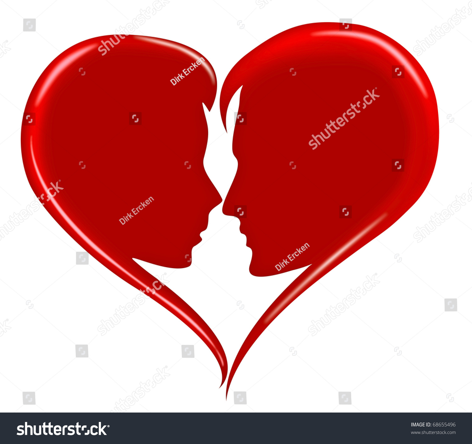 red love heart happy valentines day stock illustration