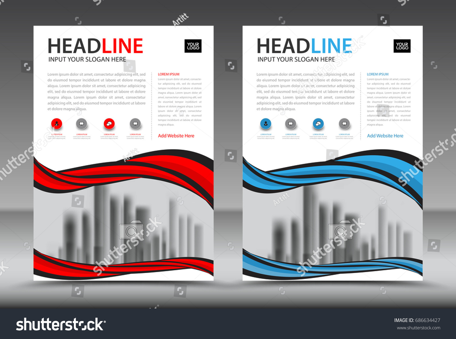 business brochure flyer template annual report stock vector royalty