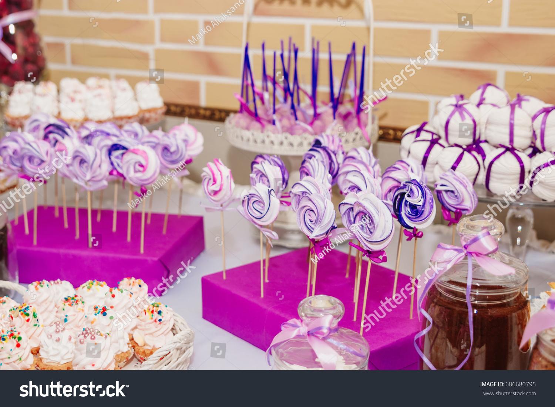 Dessert Table Kids Birthday Party Cake Stock Photo (Edit Now ...