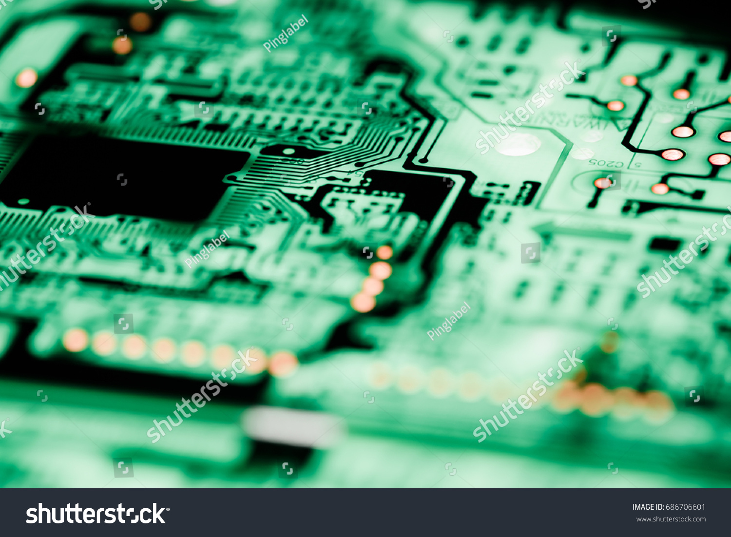 Abstract Close Up Of Circuits Electronic On Mainboard Technology Circuit Board Background Id 686706601