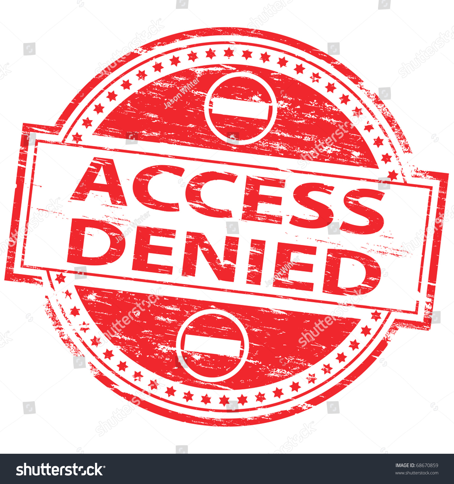 Denied >> Rubber Stamp Illustration Showing Access Denied