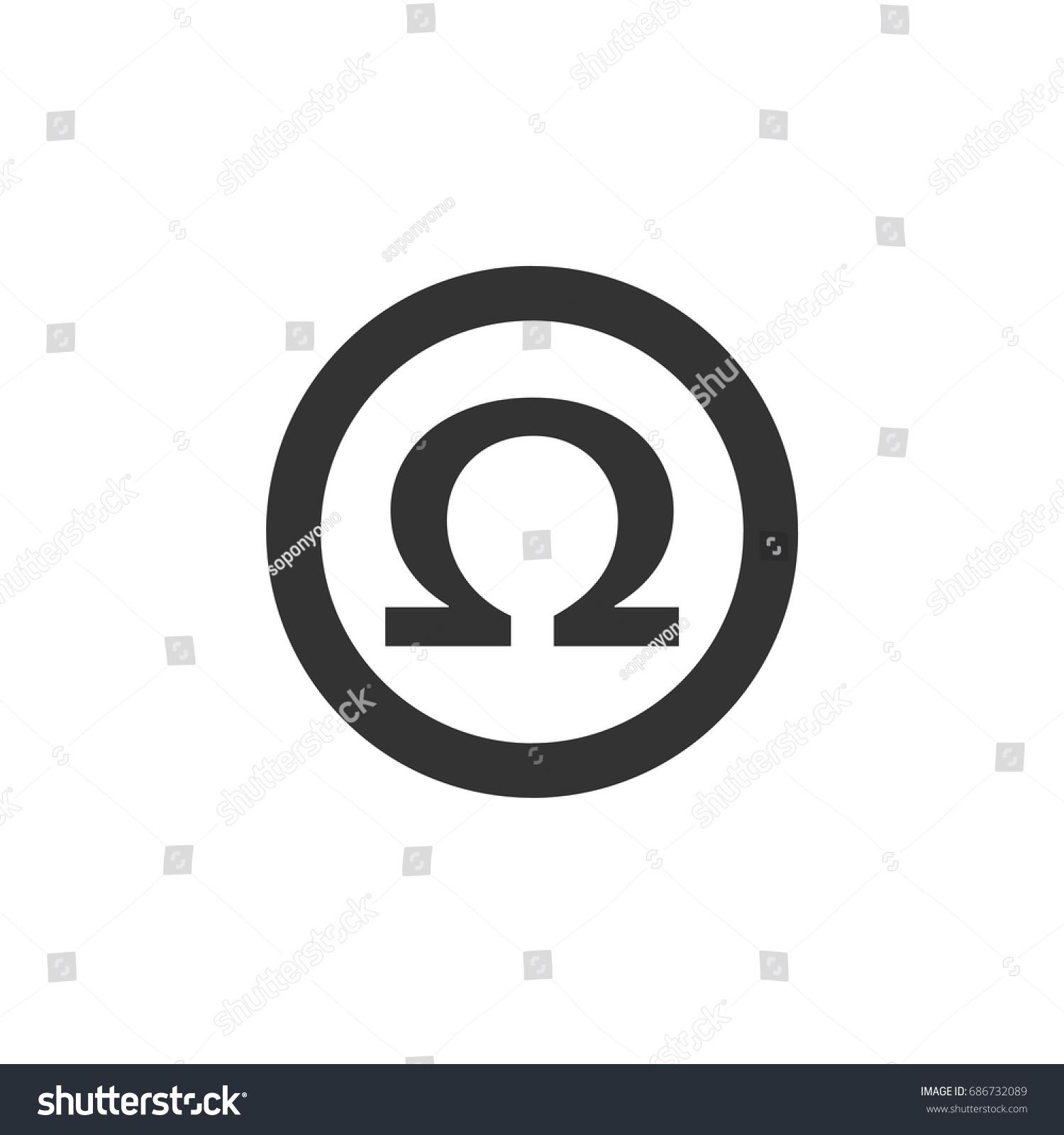 Omega sign logo template stock vector 686732089 shutterstock omega sign logo template biocorpaavc Gallery