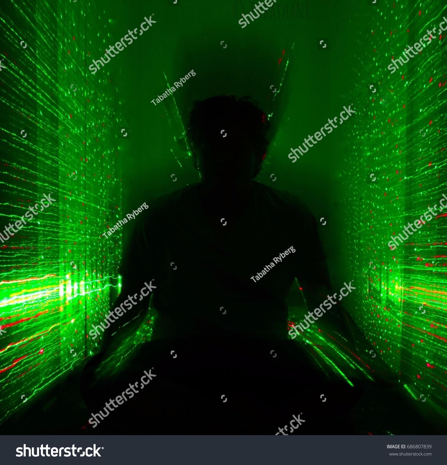 Neon Depiction Transfer Energy Soul Stock Photo (Edit Now