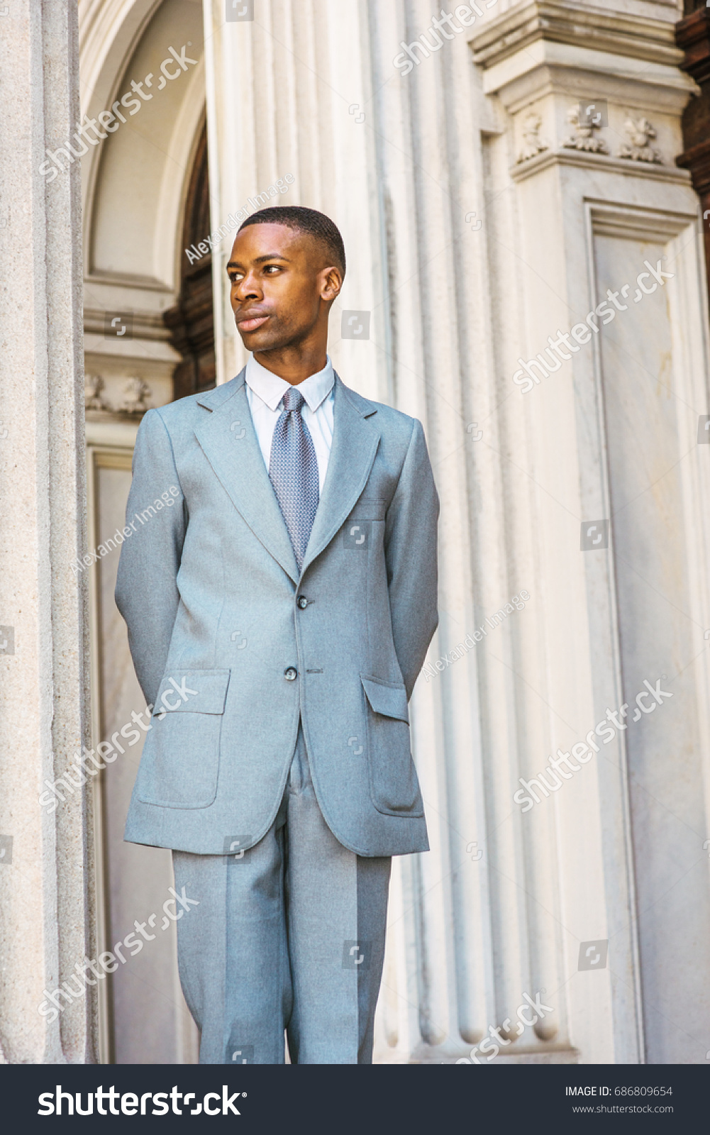 Portrait Young African American Businessman New Stock Photo (Royalty ...