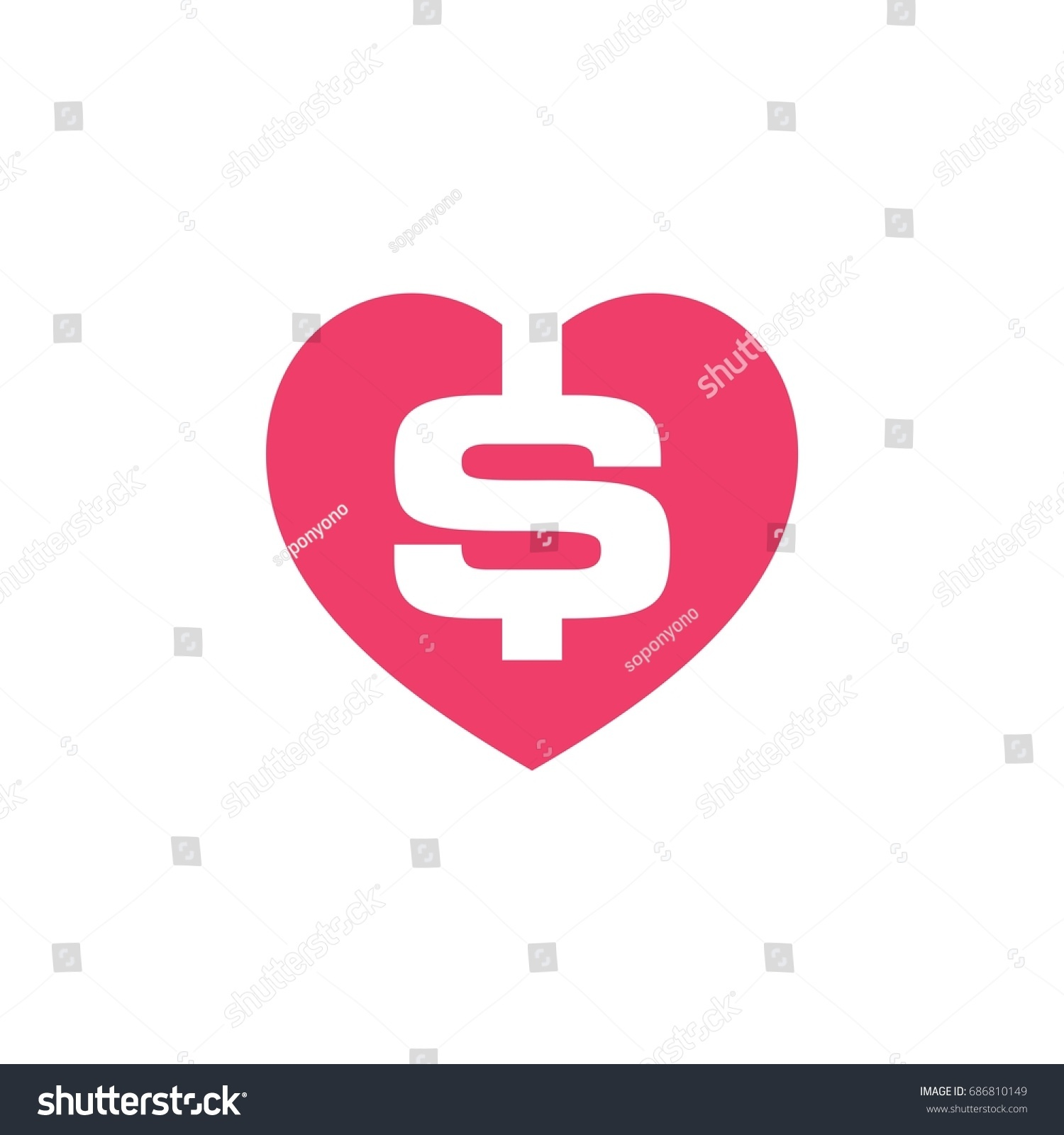 Dollar Sign Logo Template Stock Vector (Royalty Free) 686810149 ...