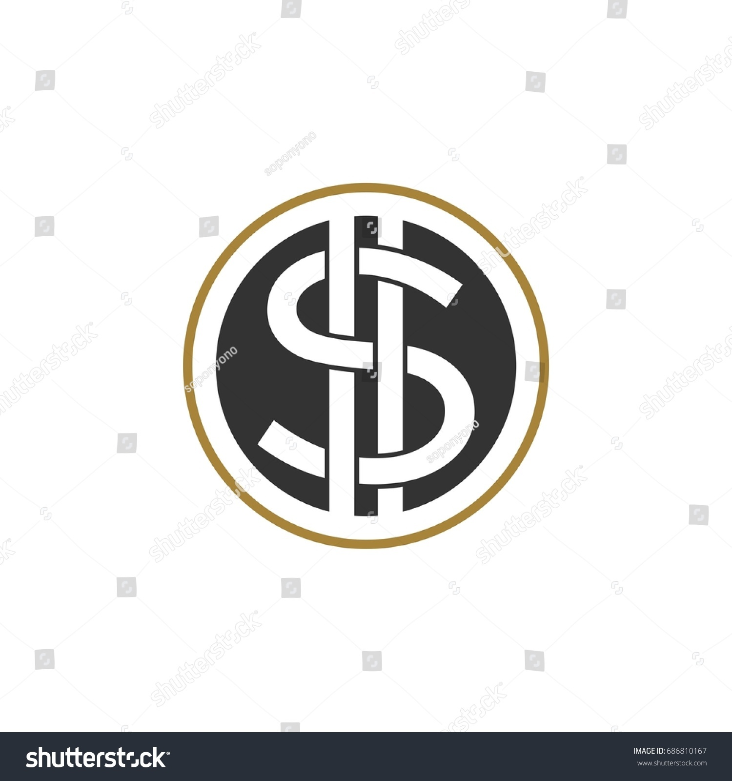 Dollar Sign Logo Template Stock Vector (Royalty Free) 686810167 ...