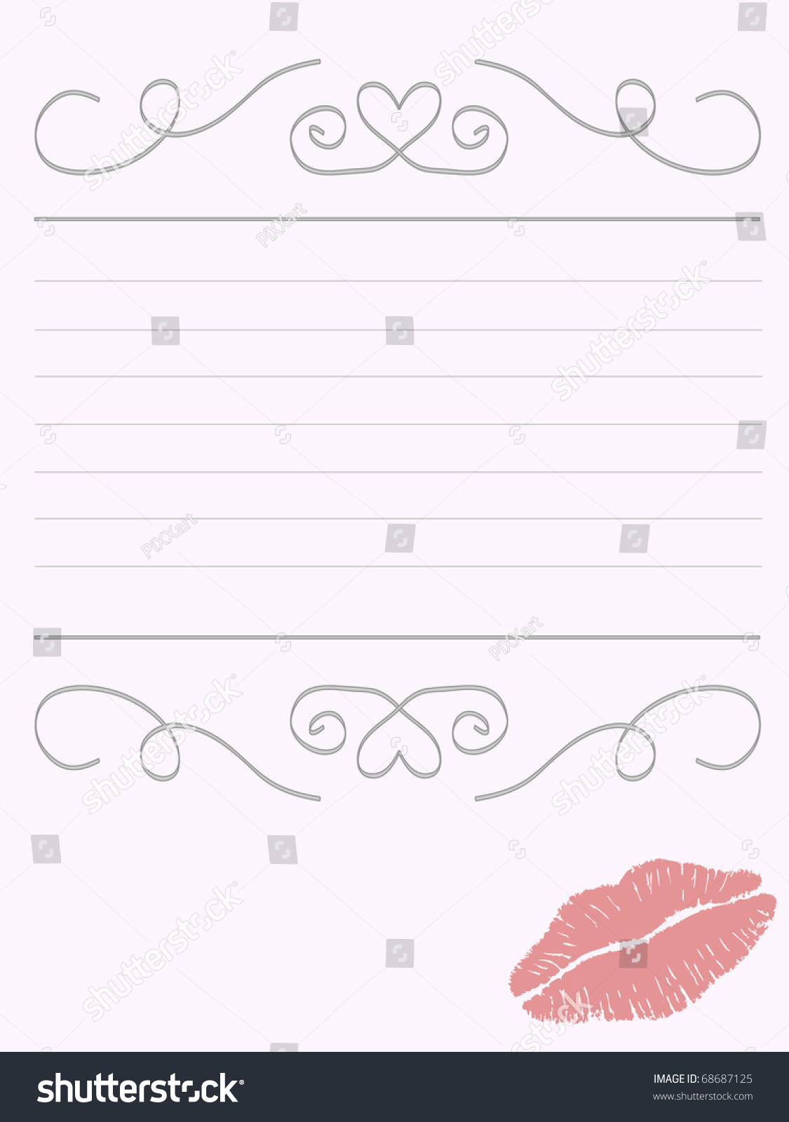 Romantic writing paper