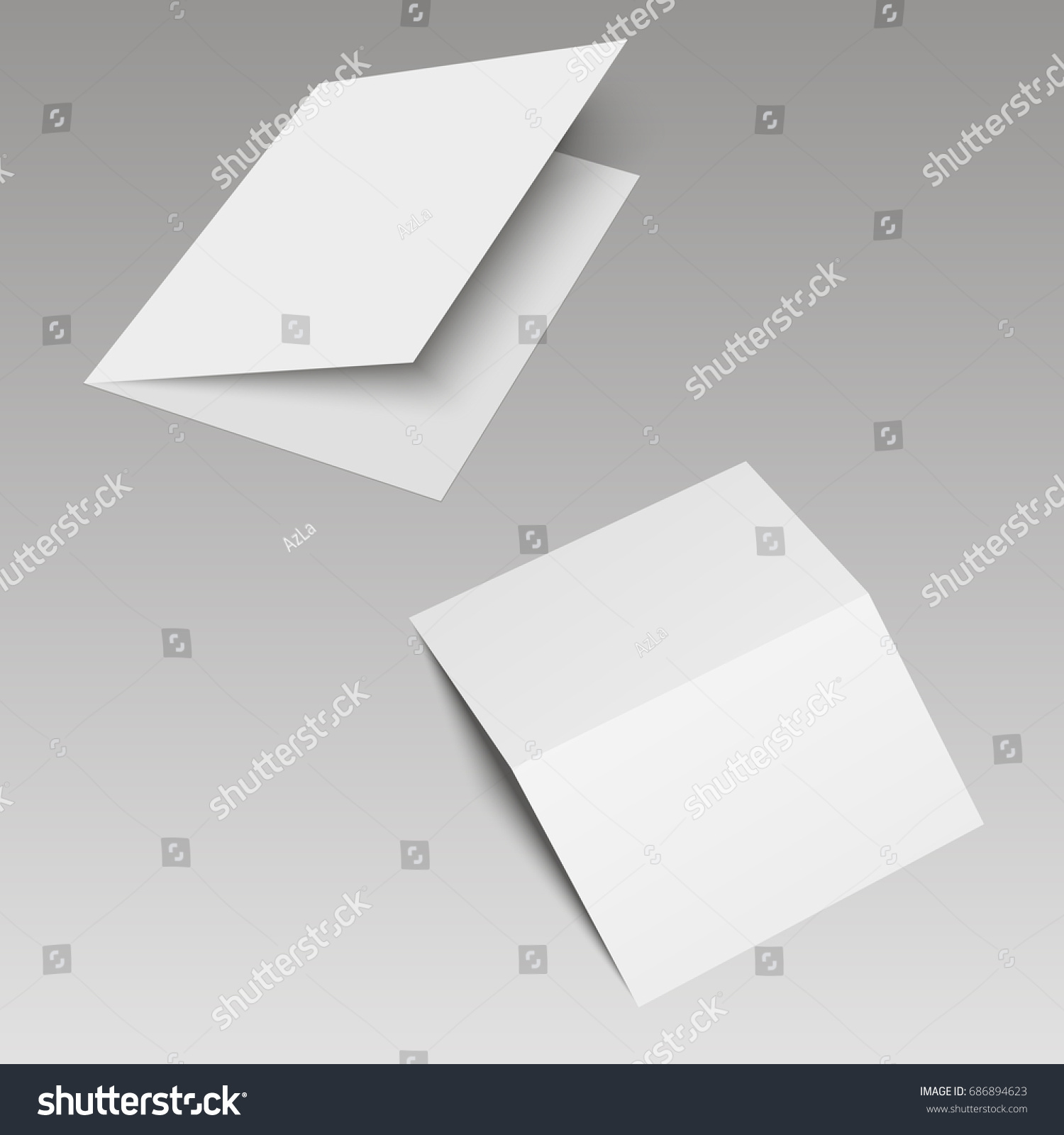 Mockup Opened Magazine Journal Booklet Postcard Stock Vector ...