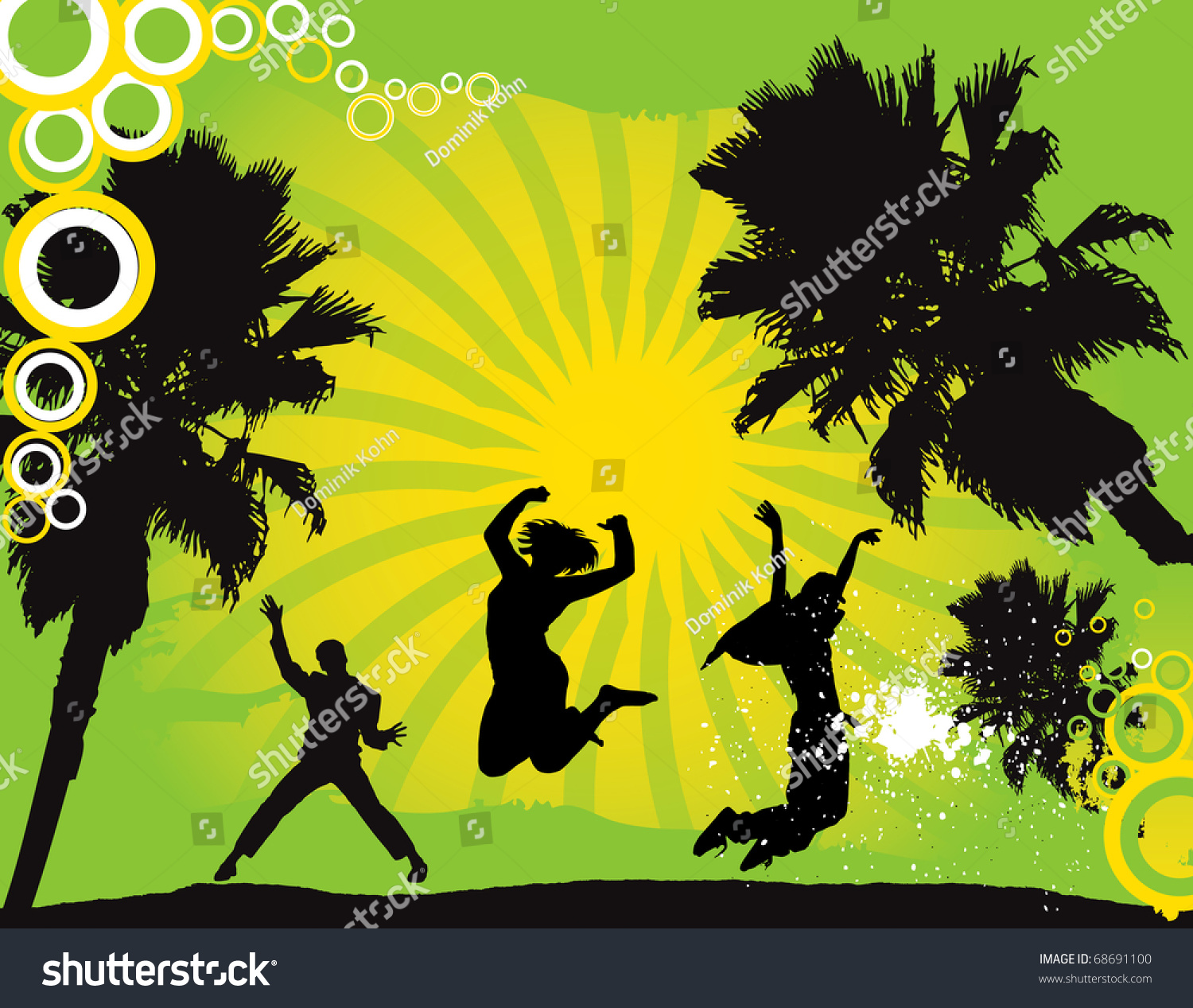 Party Flyer Background Illustration Vector Green Stock Vector ...