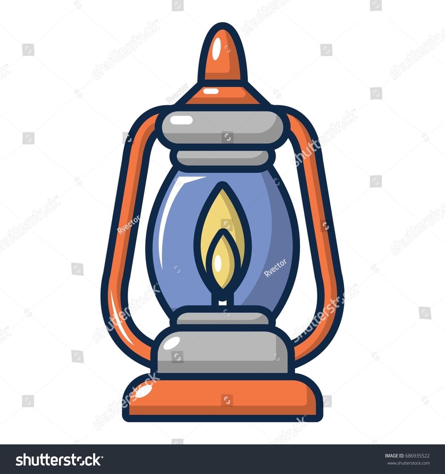 Kerosene Lamp Icon Cartoon Illustration Kerosene Stock Photo (Photo ... for Kerosene Lamp Clipart  585eri