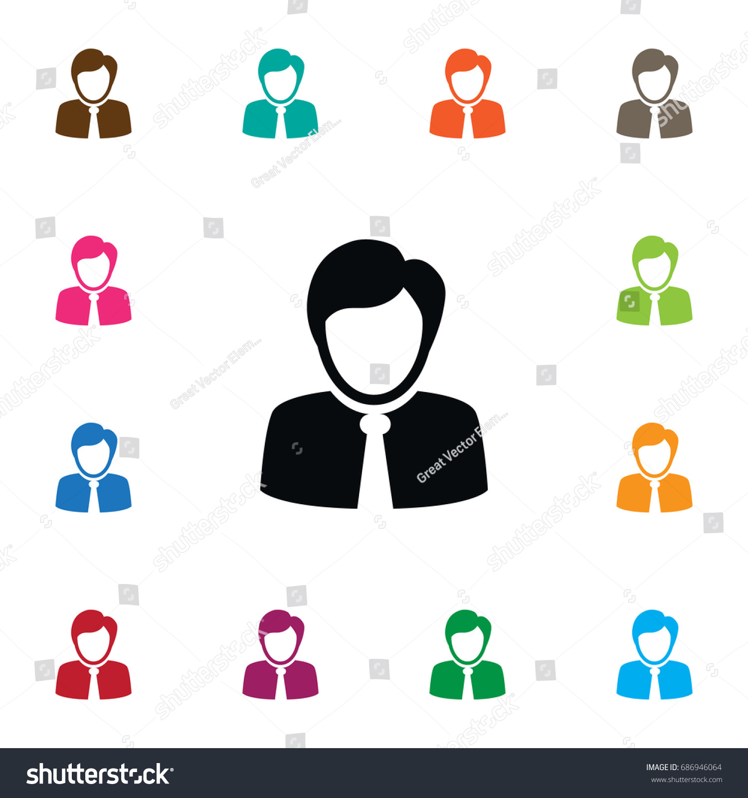 Isolated Coach Icon Guest Vector Element Stock Vector Royalty Free