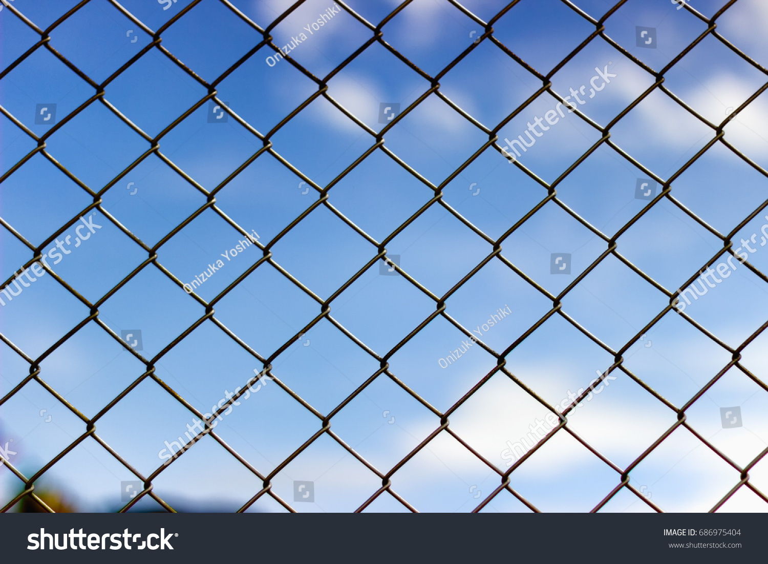 Close Metal Wire Mesh Fence Stock Photo 686975404 - Shutterstock