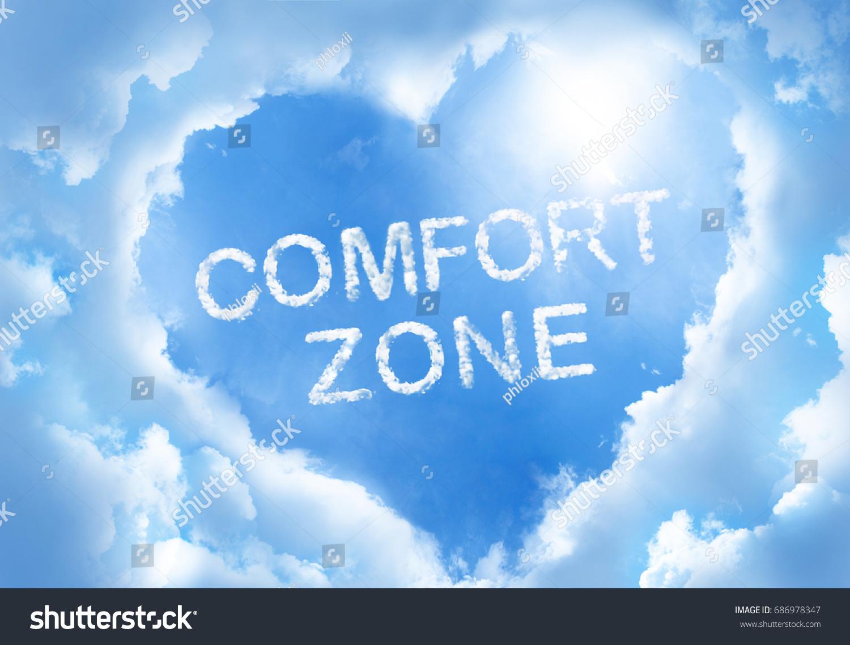 Comfort Zone Cloud Word Inside Heart Stock Photo 686978347 ...