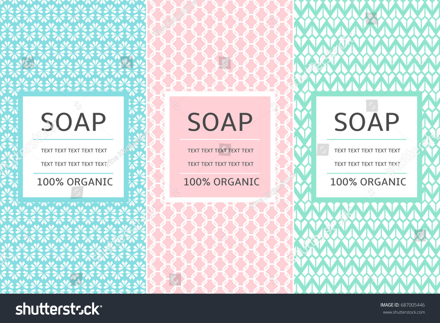 Cosmetic Packaging Set Design Template Vector Stock Vector HD ...