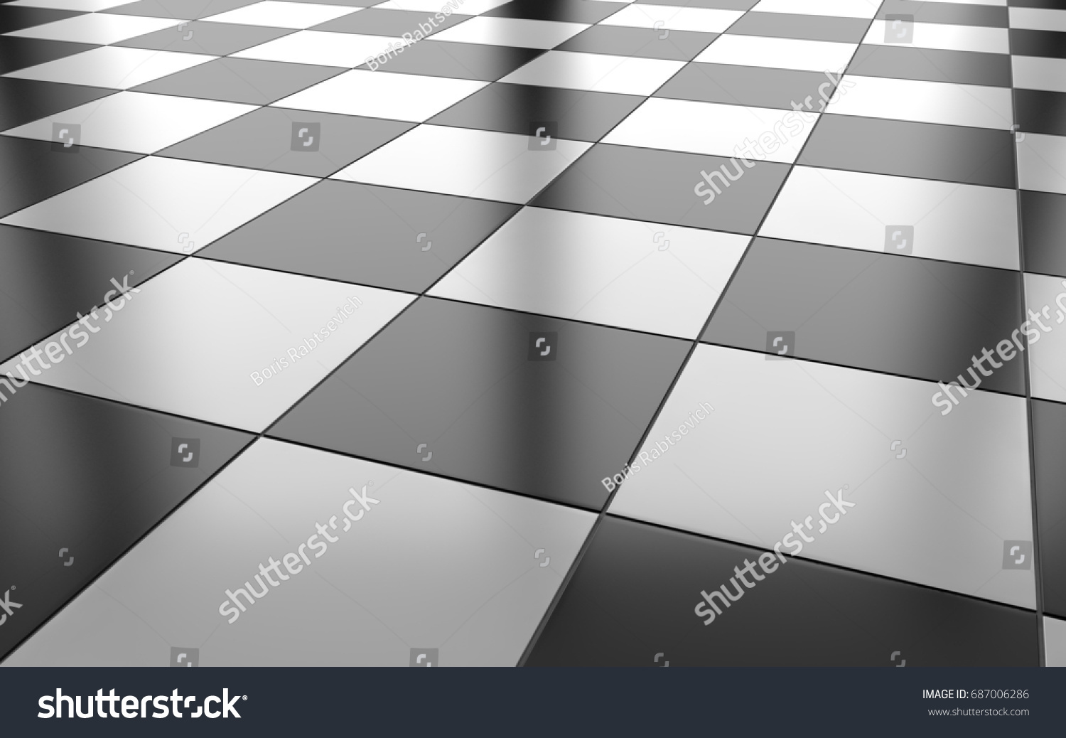 Black white glossy ceramic tile floor stock illustration 687006286 black and white glossy ceramic tile floor background 3d rendering dailygadgetfo Choice Image