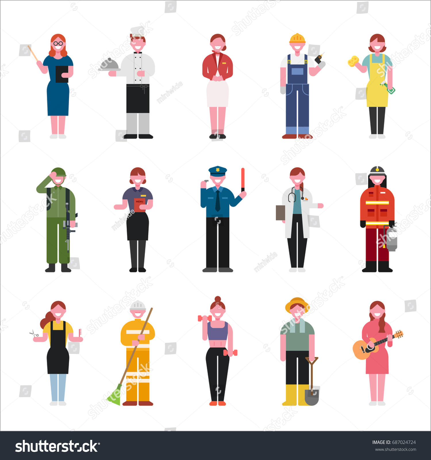 Character Design Job Offer : Job character vector illustration flat design stock