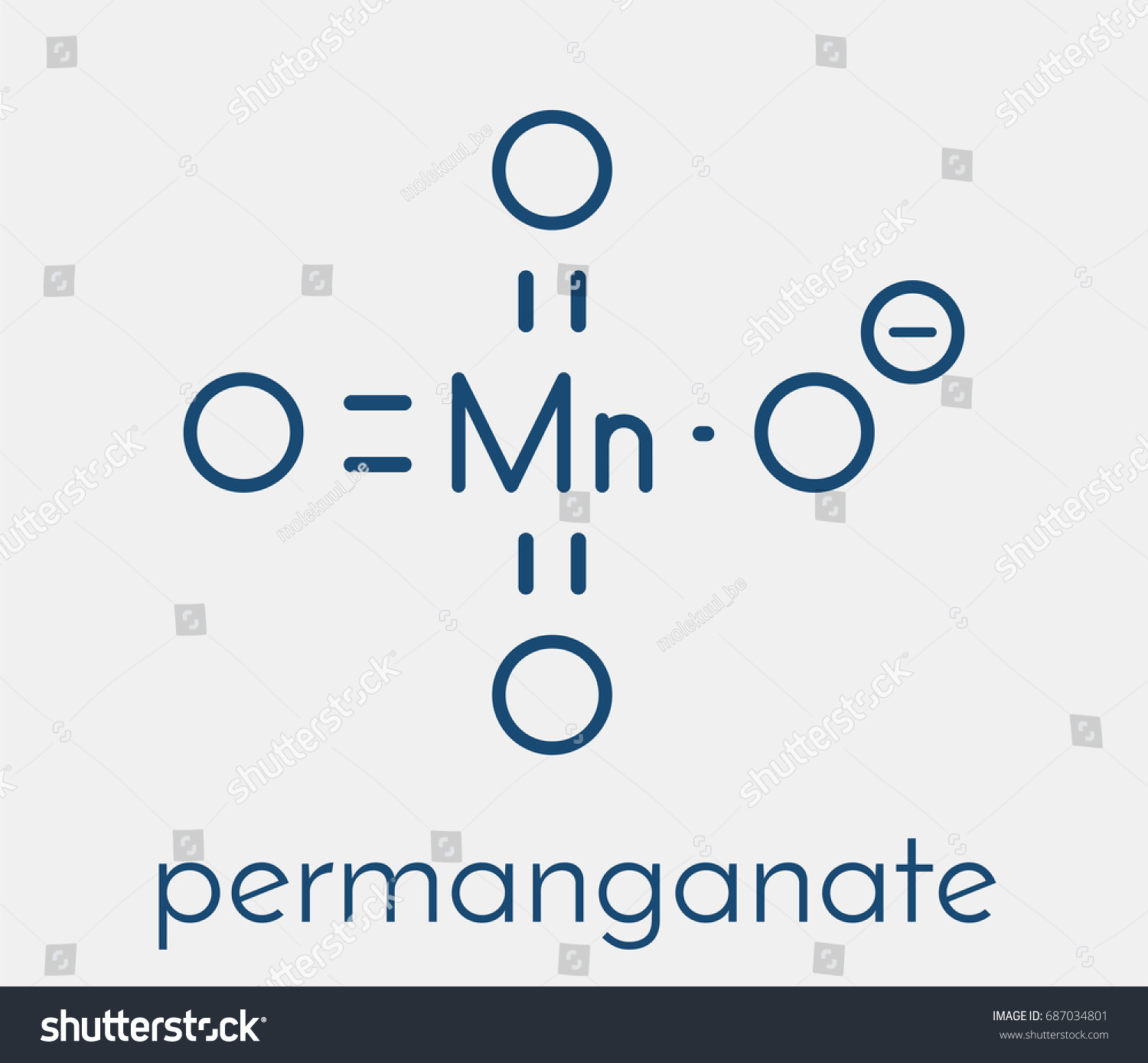 Permanganate anion chemical structure skeletal formula stock permanganate anion chemical structure skeletal formula buycottarizona
