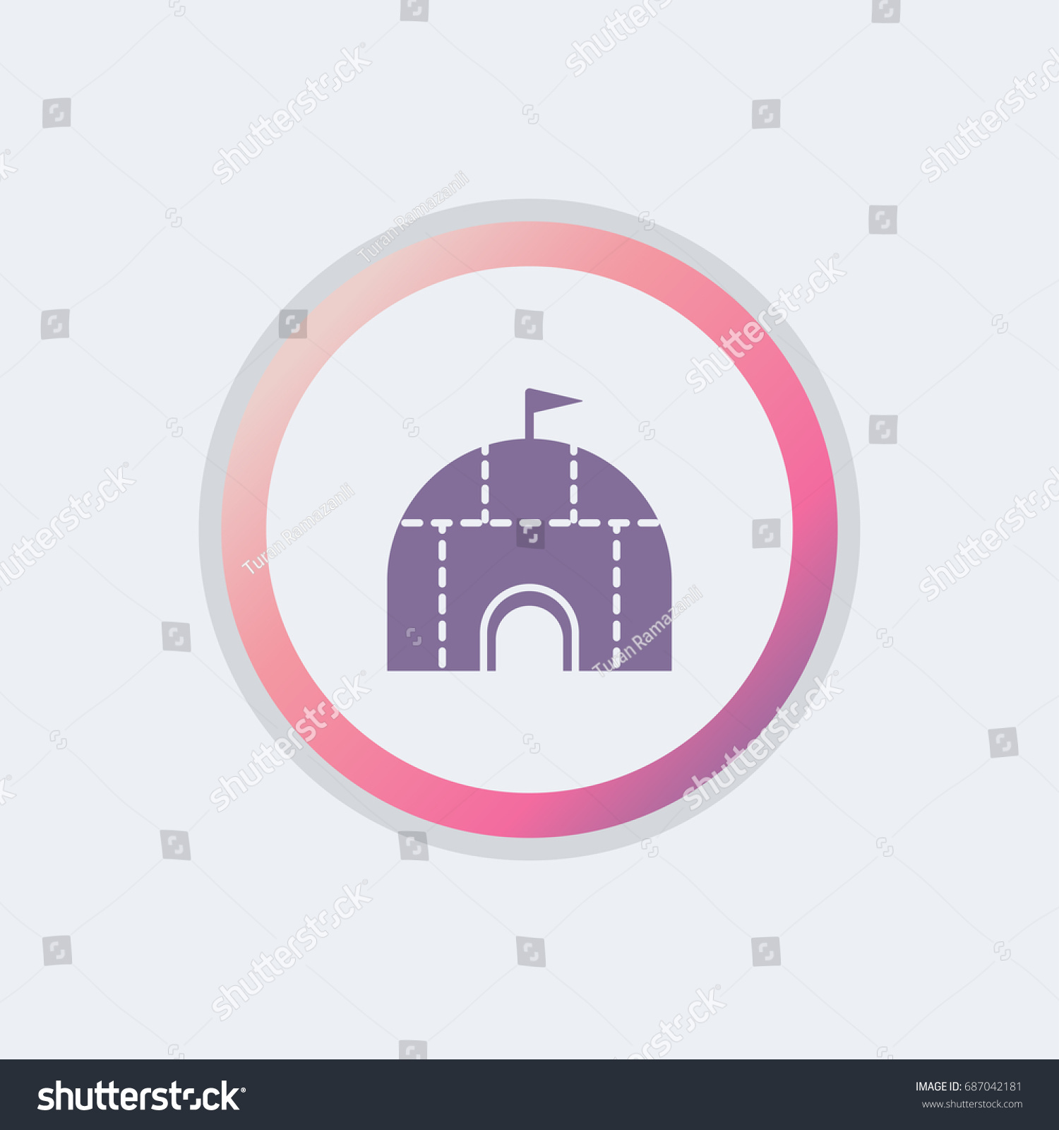 Simple igloo icon stock vector 687042181 shutterstock simple igloo icon pooptronica