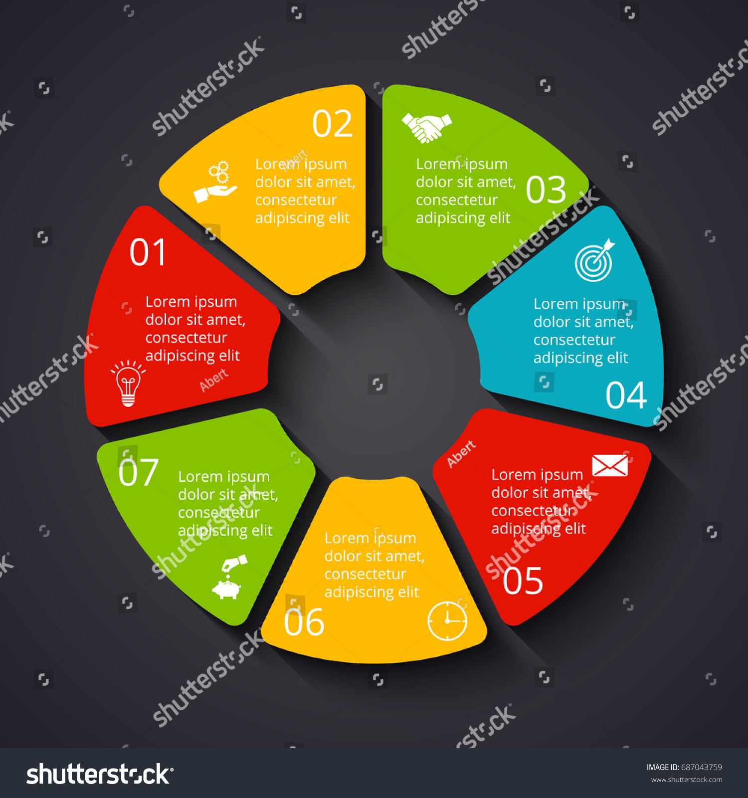 vector dark circle infographic template cycle stock vector royalty rh shutterstock com Circle Diagram PowerPoint Templates Circle Graph