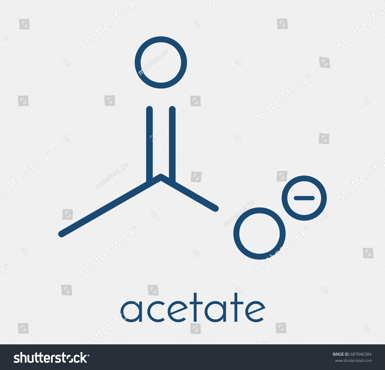 Acetate anion chemical structure skeletal formula stock vector acetate anion chemical structure skeletal formula biocorpaavc