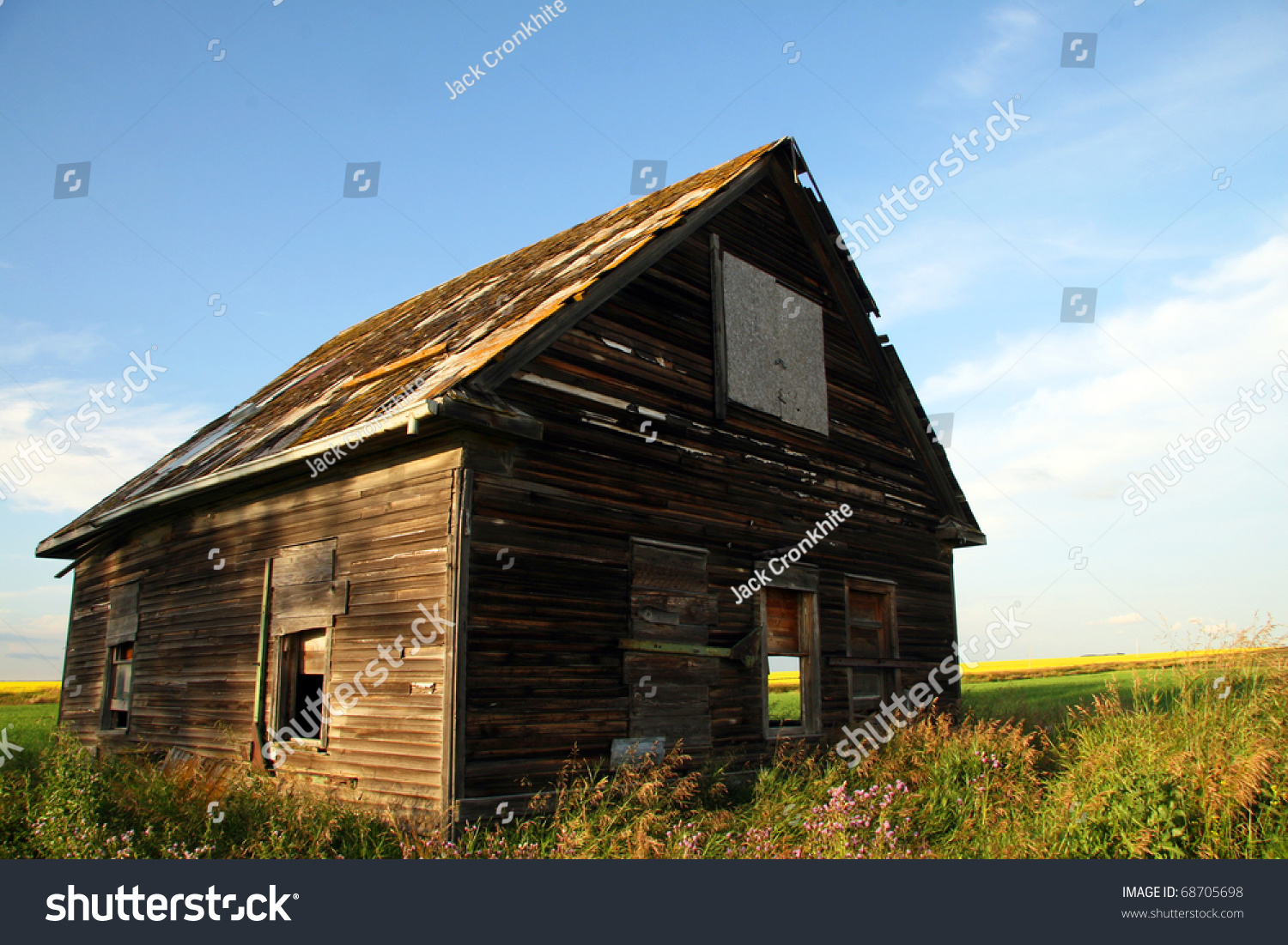 Dirty Thirties Depression Era Dilapidated Farm House Sits ...