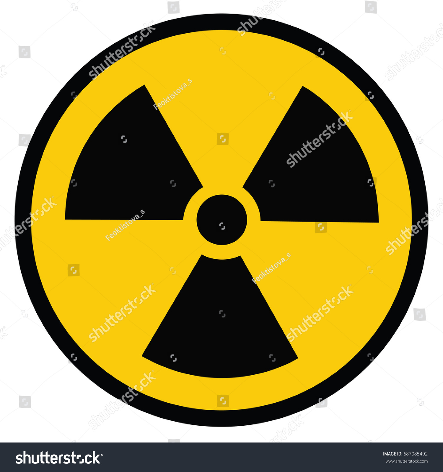 Radiation Danger Vector Pictogram Ionizing Radiation Hazard Stock
