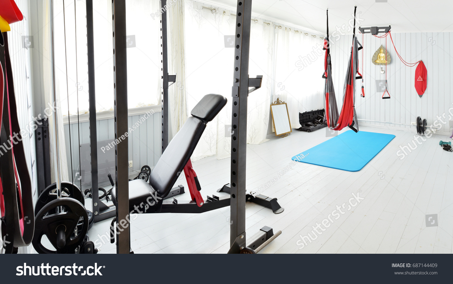 Home gym private gym at home luxury small home gym with bench with