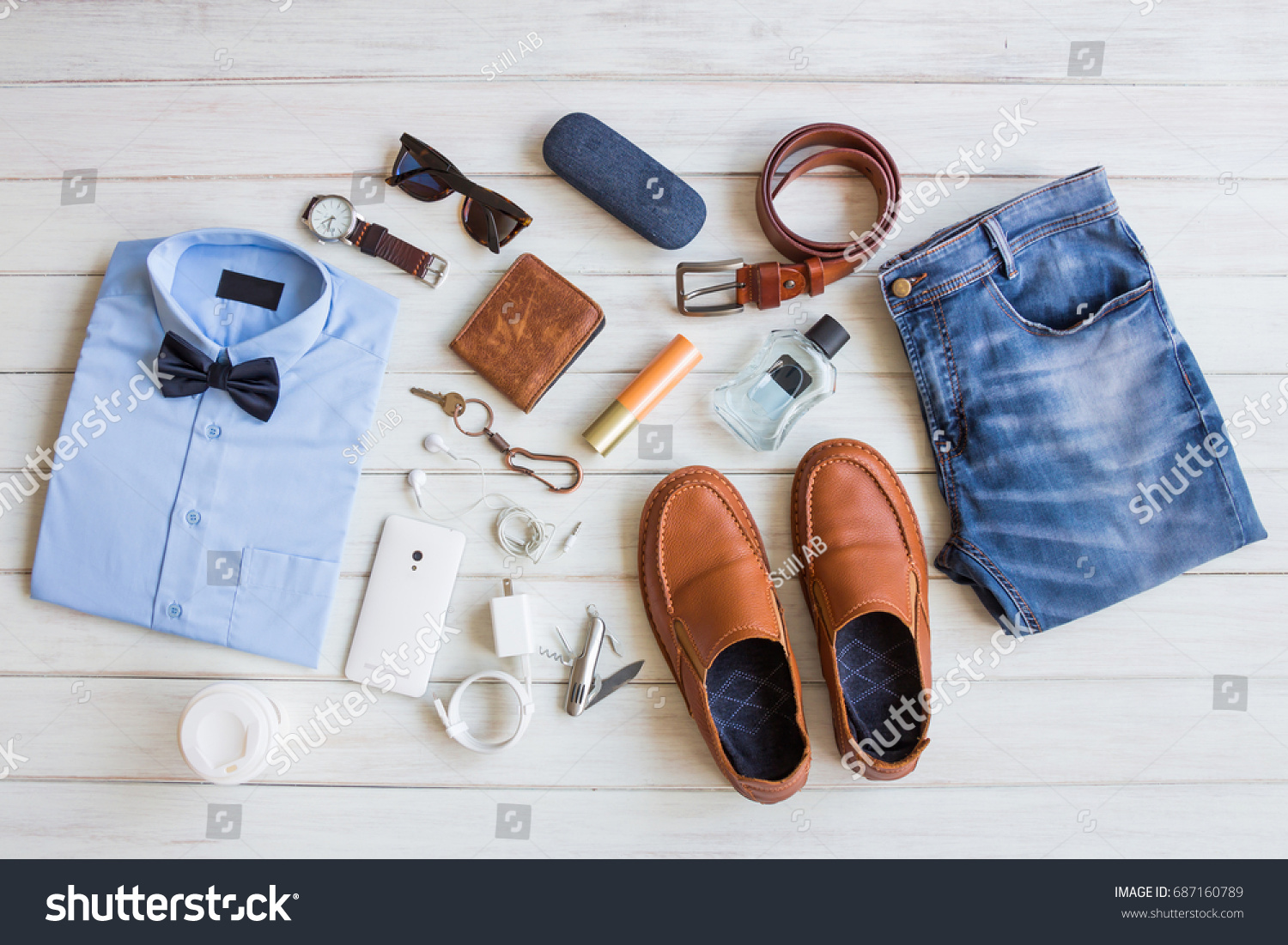 dbc75cca9 Flat Lay Mens Fashion Casual Outfits Stock Photo (Edit Now ...