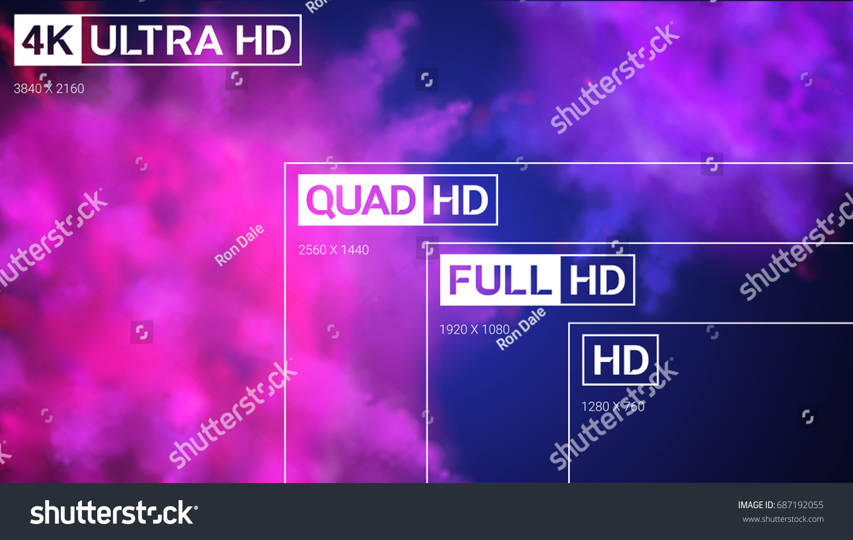 4 K Uhd Quad Hd Full Hd Image Vectorielle De Stock Libre De Droits