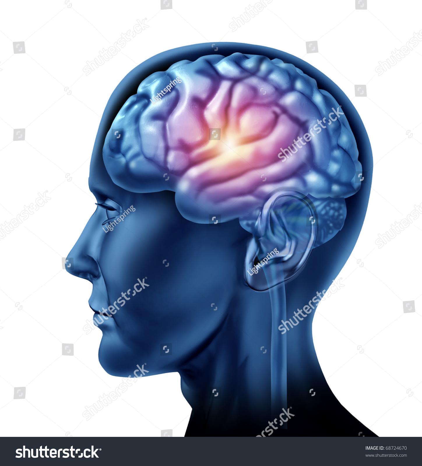 spark genius brain head lobes cortexのイラスト素材 68724670