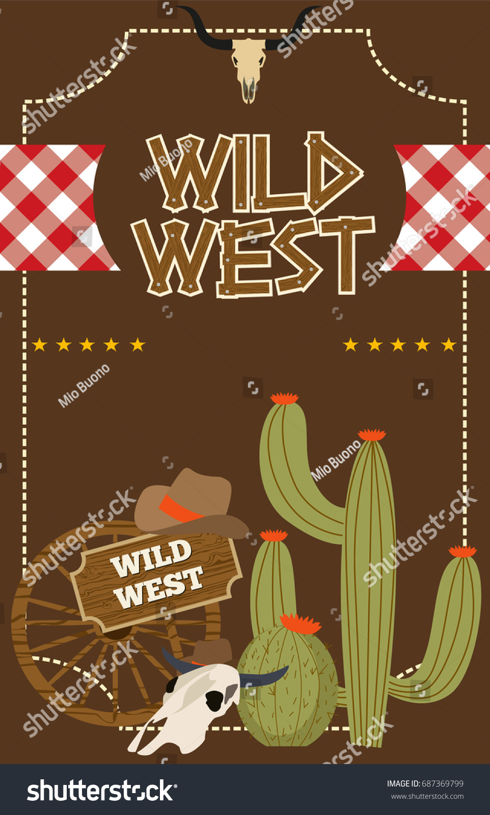 Wild West Poster Party Invitation Editable Stock Vector 687369799 ...