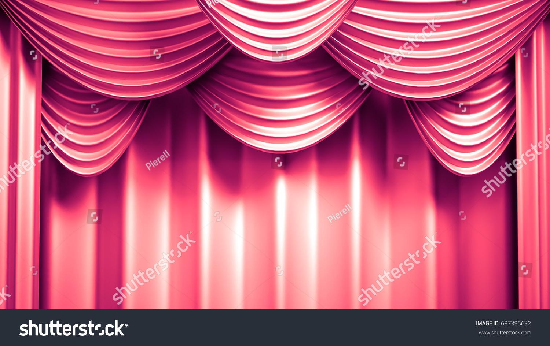 Beautiful Abstract Background Curtain Fabric Drape Stock ...