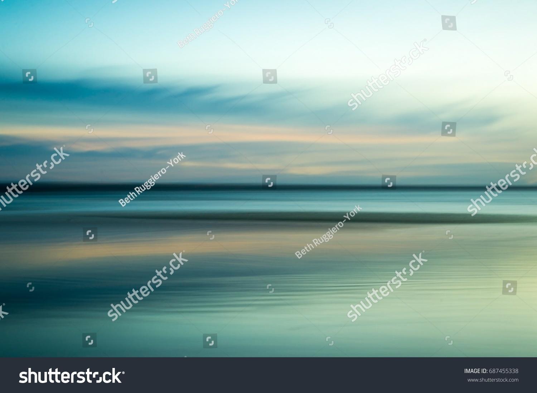 Calming, serene ocean abstract #687455338