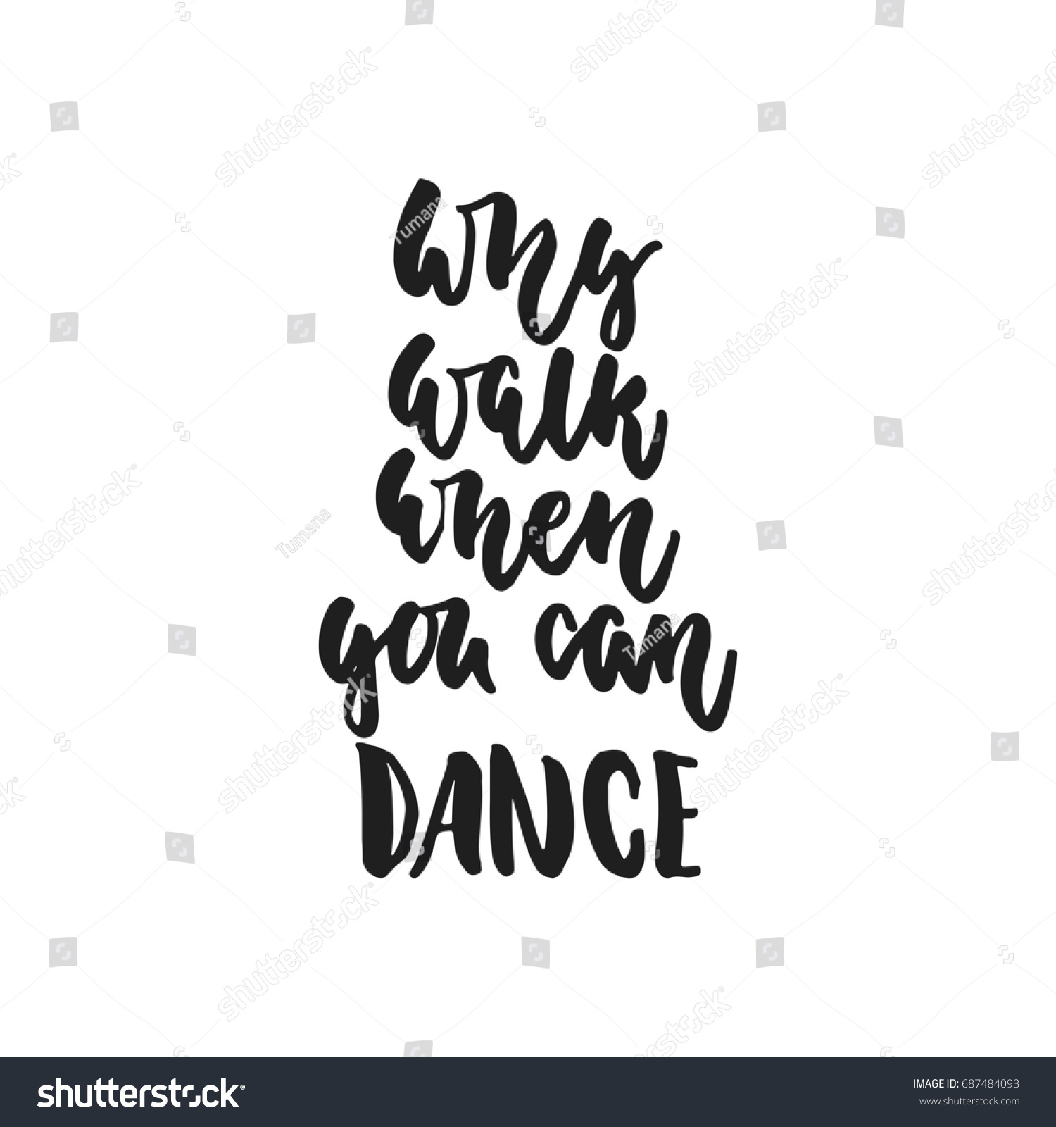 Why Walk When You Can Dance Stock Illustration 687484093 Shutterstock