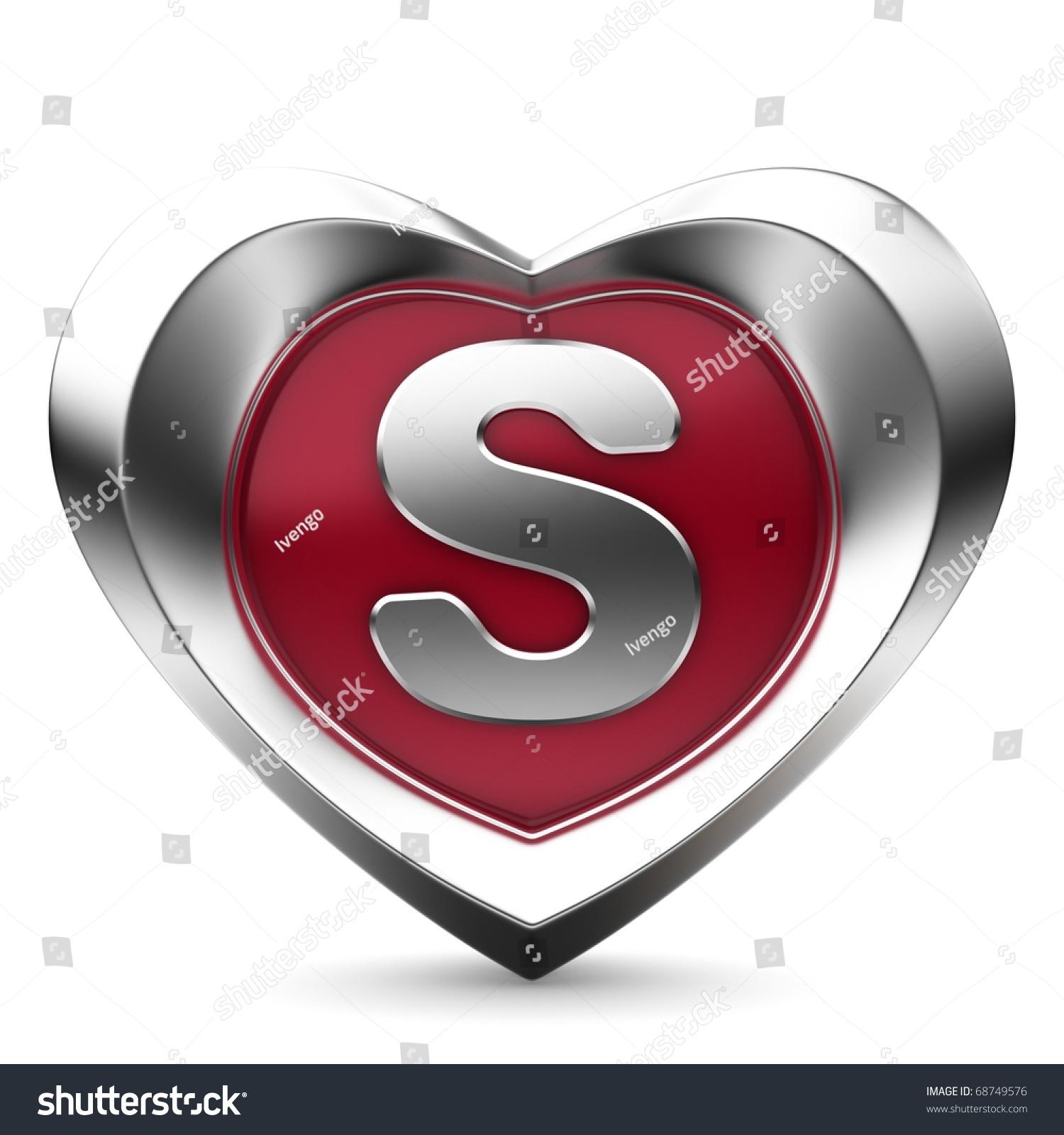 S Alphabet In Heart Letter S Alphab...