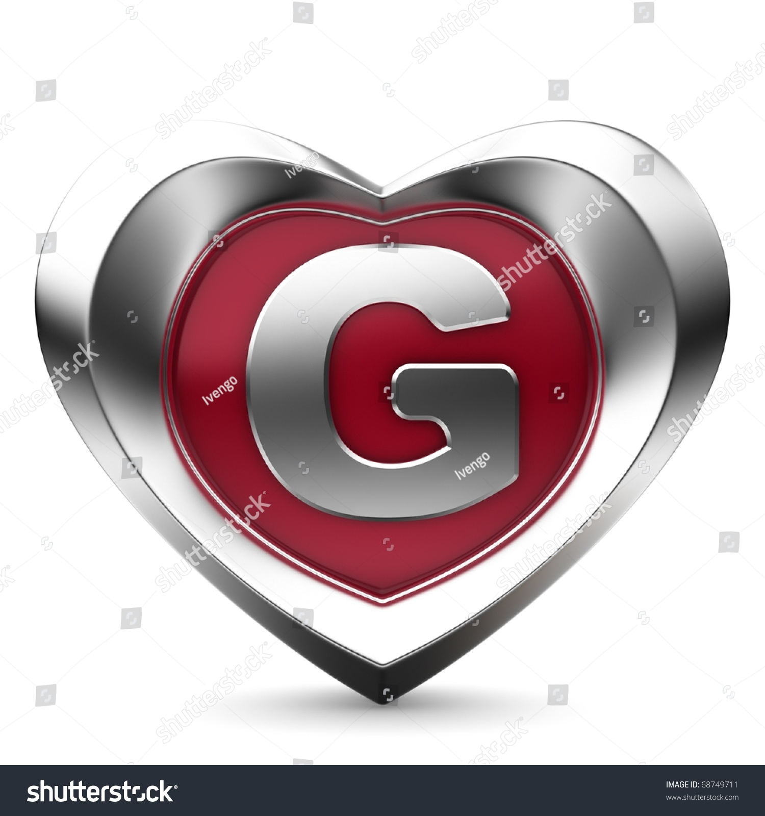 Letter G From Alphabet Of Hearts