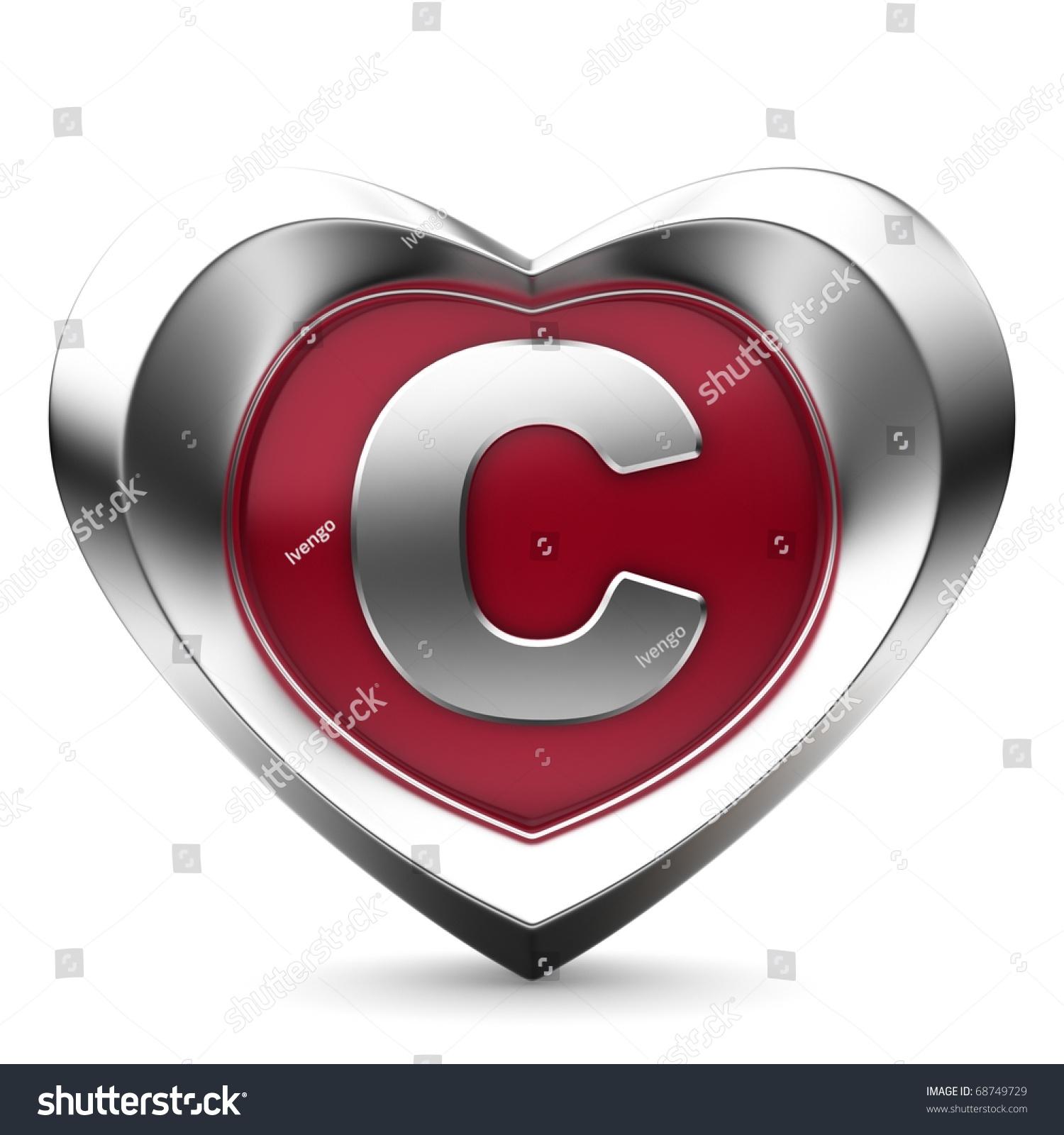 Letter C Alphabet Hearts Stock Illustration 68749729 Shutterstock