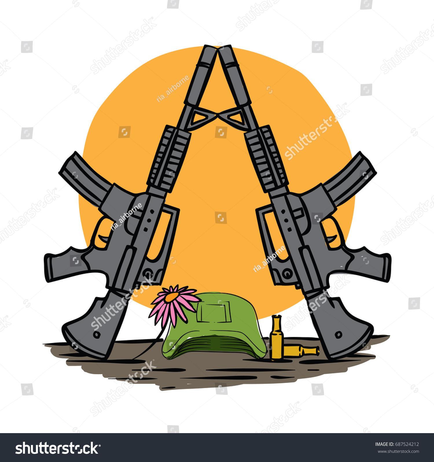 Peace Illustration Concept Funeral Symbol War Stock Vector 687524212