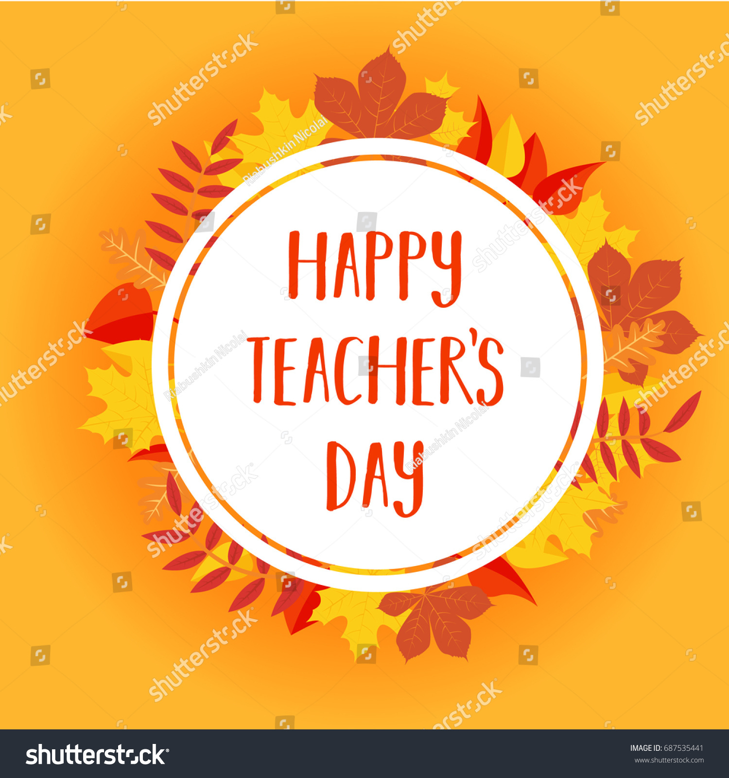 Happy Teachers Day Greeting Card Postcard Stock Vector Royalty Free